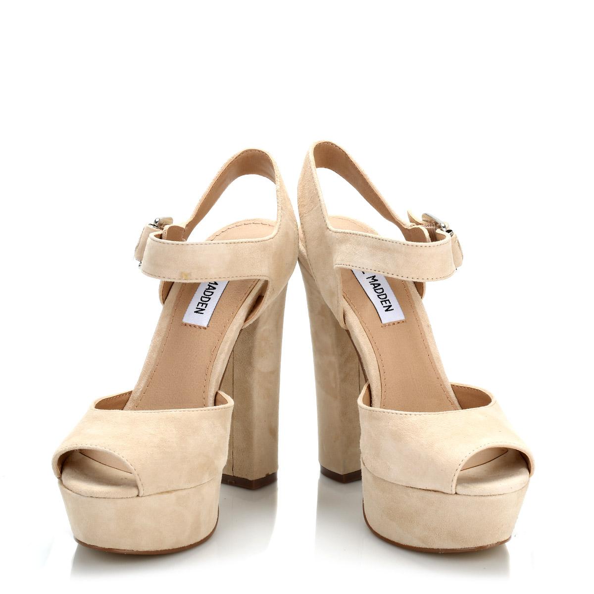 steve madden womens blush jillyy suede high heels beige