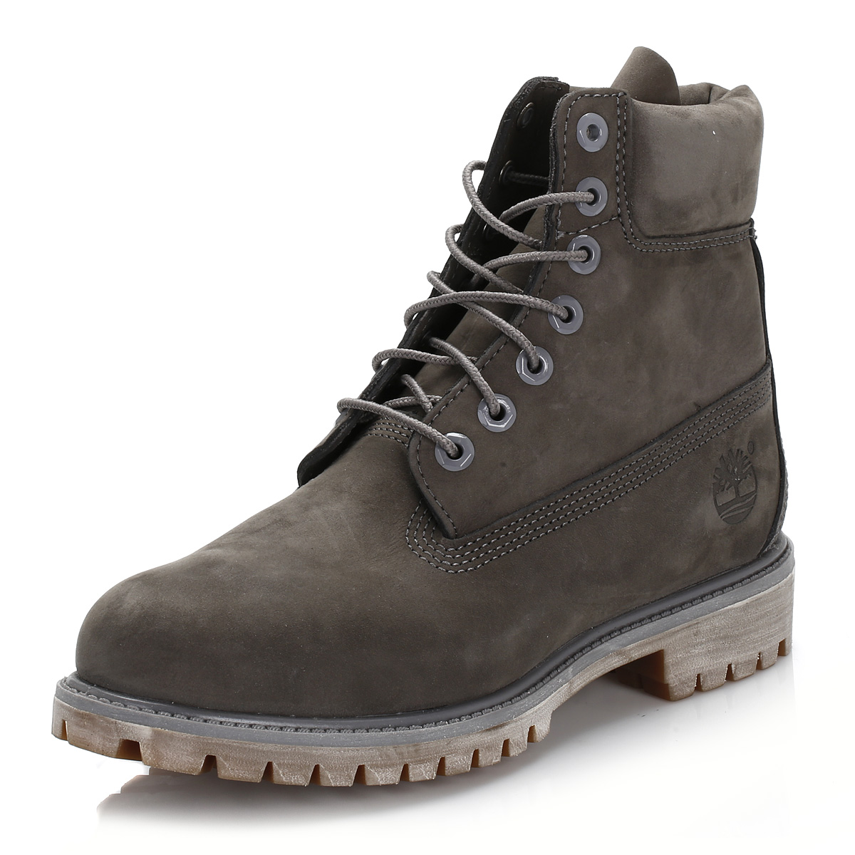 timberland mens boots grey 6 inch waterproof laceup. Black Bedroom Furniture Sets. Home Design Ideas