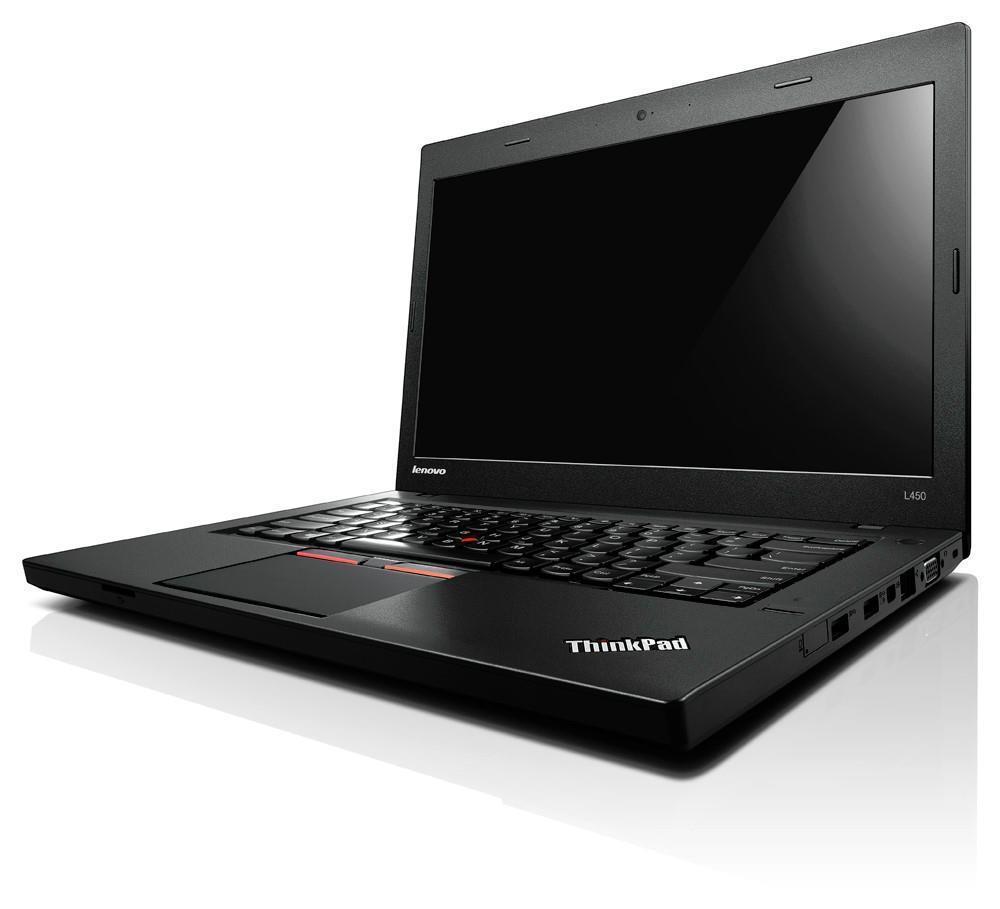 lenovo laptop thinkpad l450 14 intel core i3 5005u 4gb ram 500gb hdd black ebay. Black Bedroom Furniture Sets. Home Design Ideas