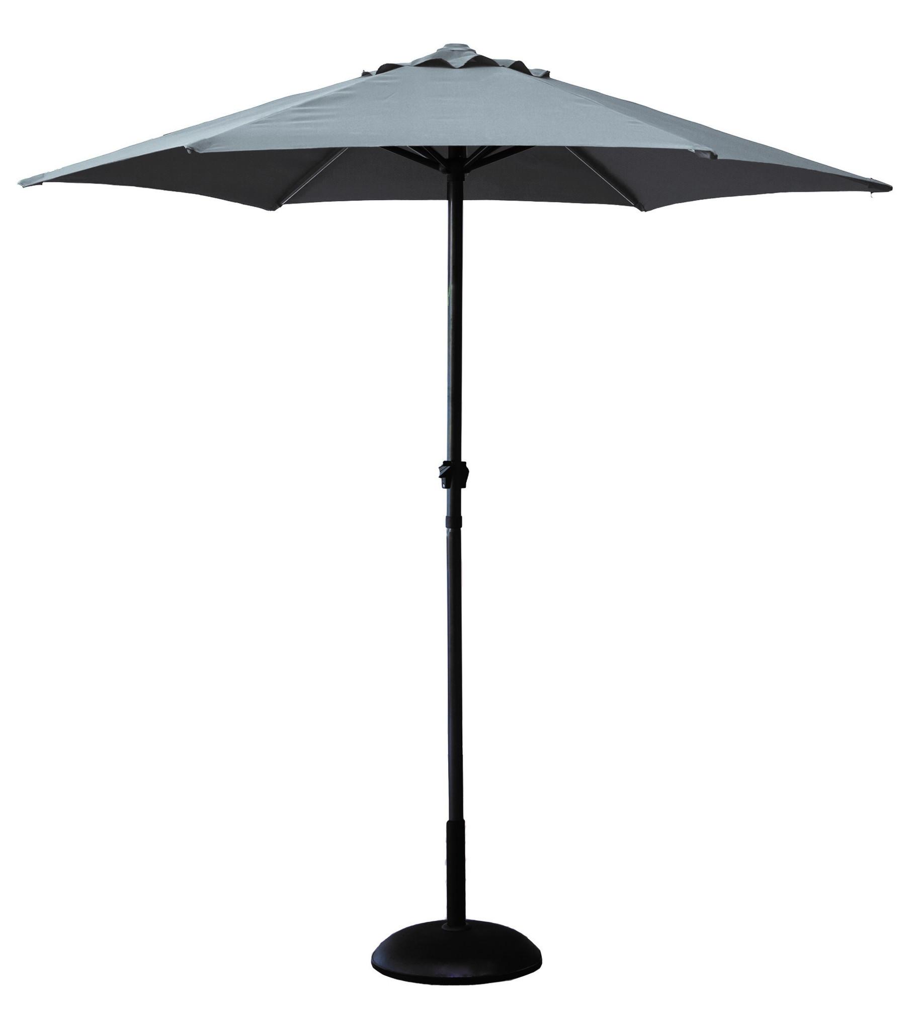 gardman garden parasol grey cover umbrella furniture crankopening aluminium ebay. Black Bedroom Furniture Sets. Home Design Ideas