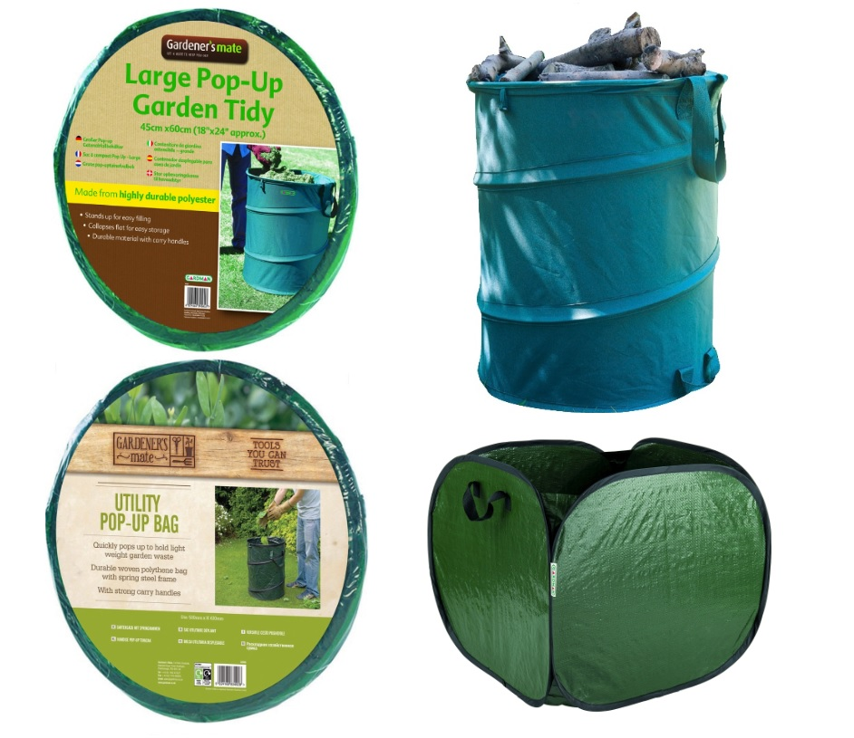 gardener 39 s mate pop up bins clearaway rubbish leaves bag. Black Bedroom Furniture Sets. Home Design Ideas