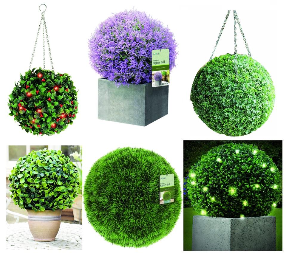 Nice 40cm Topiary Balls Part - 9: Gardman 30cm, 40cm Topiary Balls Selection, Hanging Garden Decor, Weather  Resist
