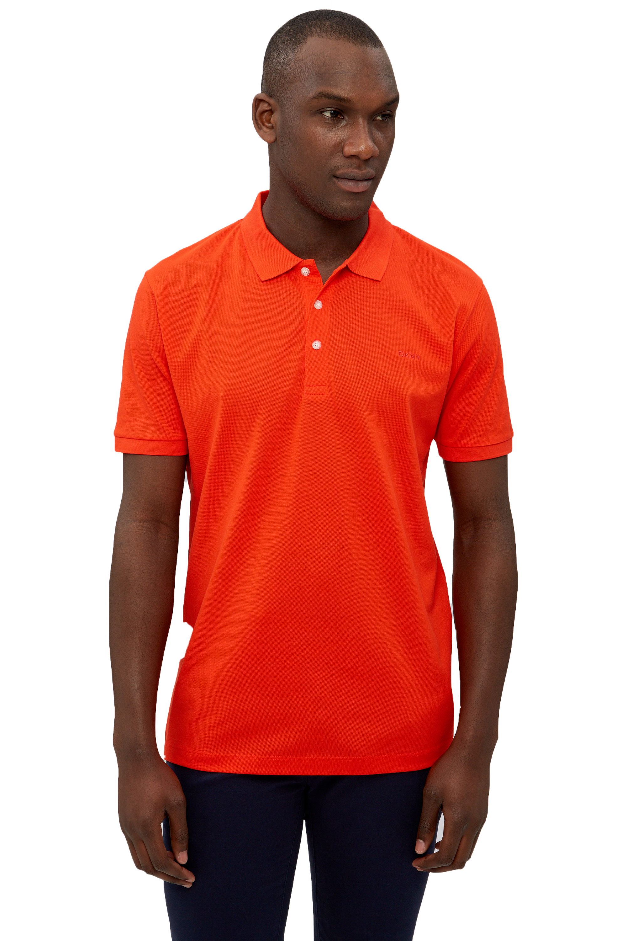 Dkny mens polo shirt chest logo casual cotton tee top for Cotton polo shirts with logo