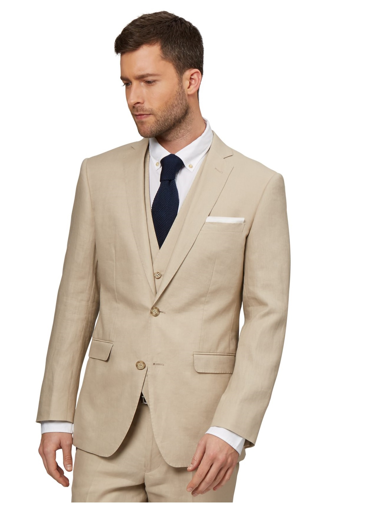 Beige Suit Jacket | My Dress Tip