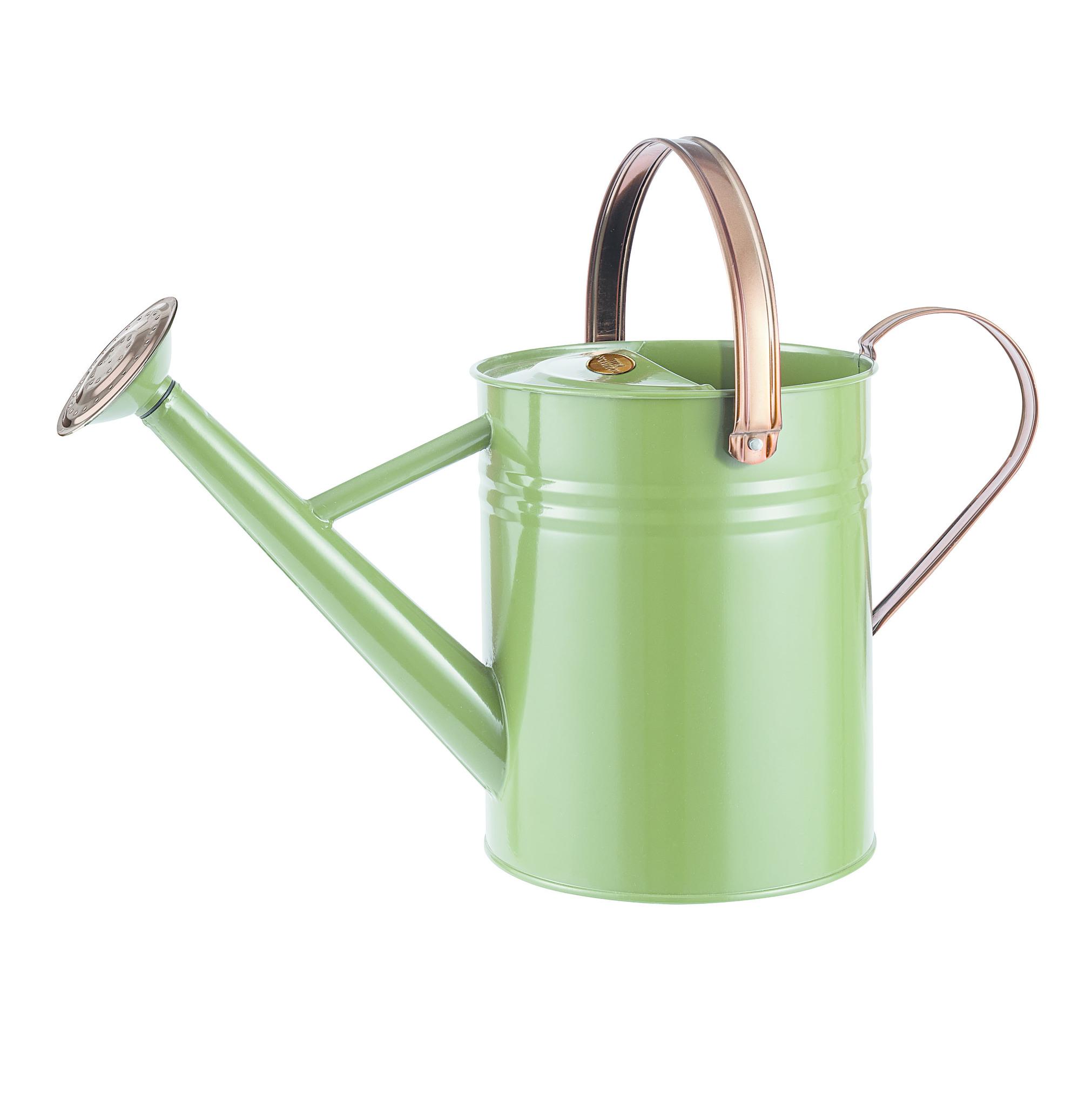 Gardman metal watering can tweed green 4 5l 1 gal galvanised steel - Gallon metal watering can ...