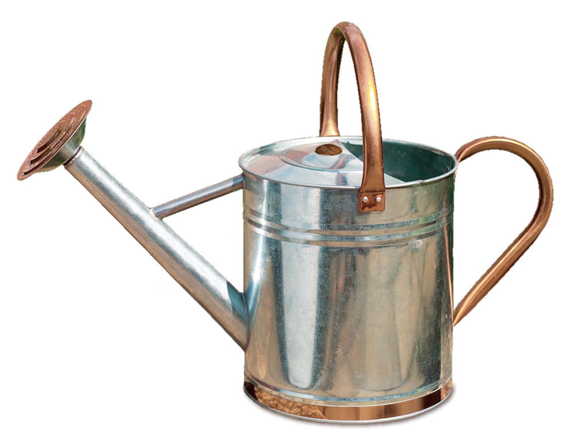 Gardman metal watering can grey vintage design 9l 2 gal galvanised steel ebay - Gallon metal watering can ...