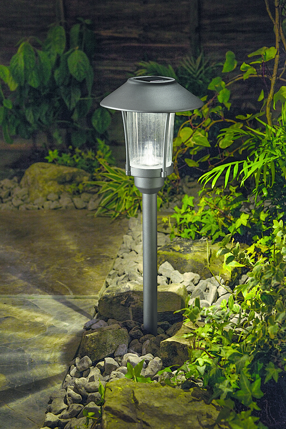 cole bright solar garden post light bright white led aluminium glass ebay