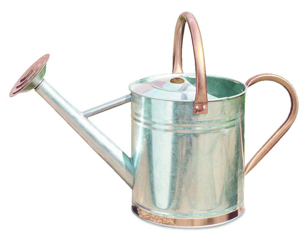 Gardman metal watering can 4 5 9 litres 1 2 gal galvanised steel colours ebay - Gallon metal watering can ...
