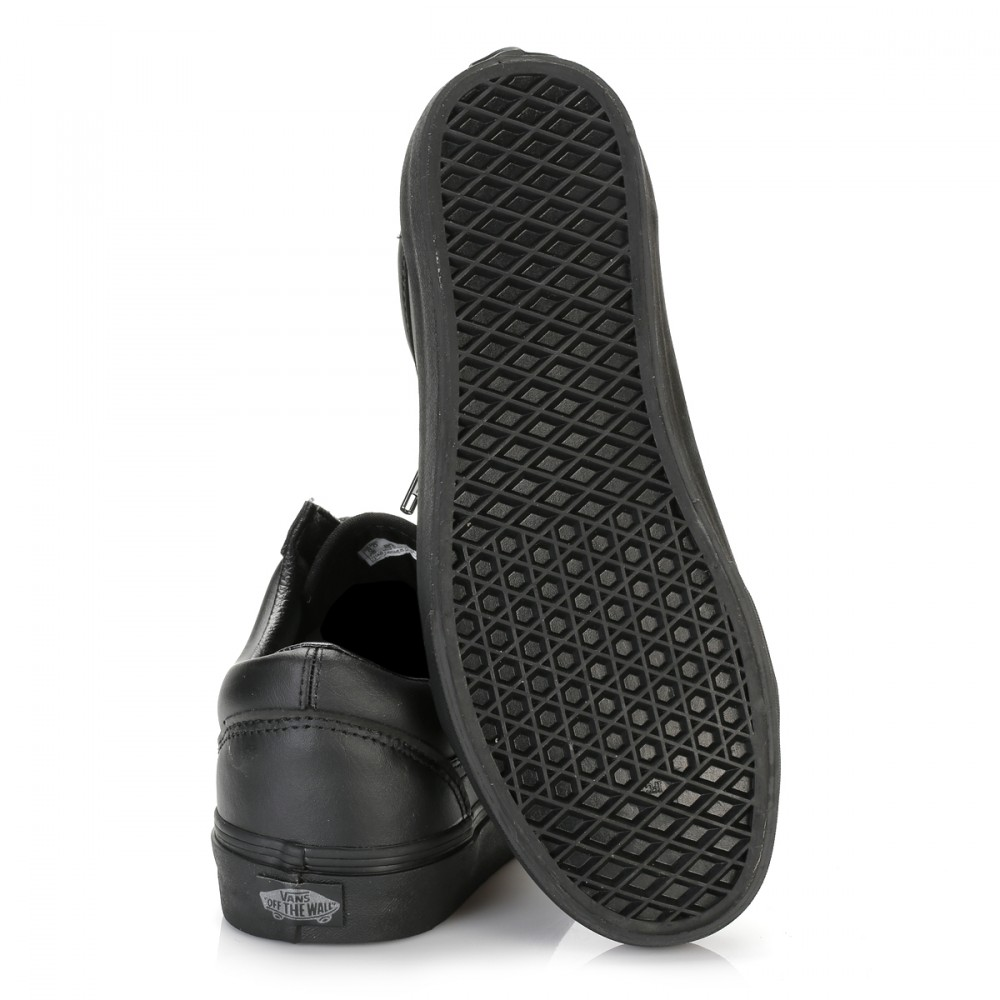 vans womens trainers gunmetal black skool leather