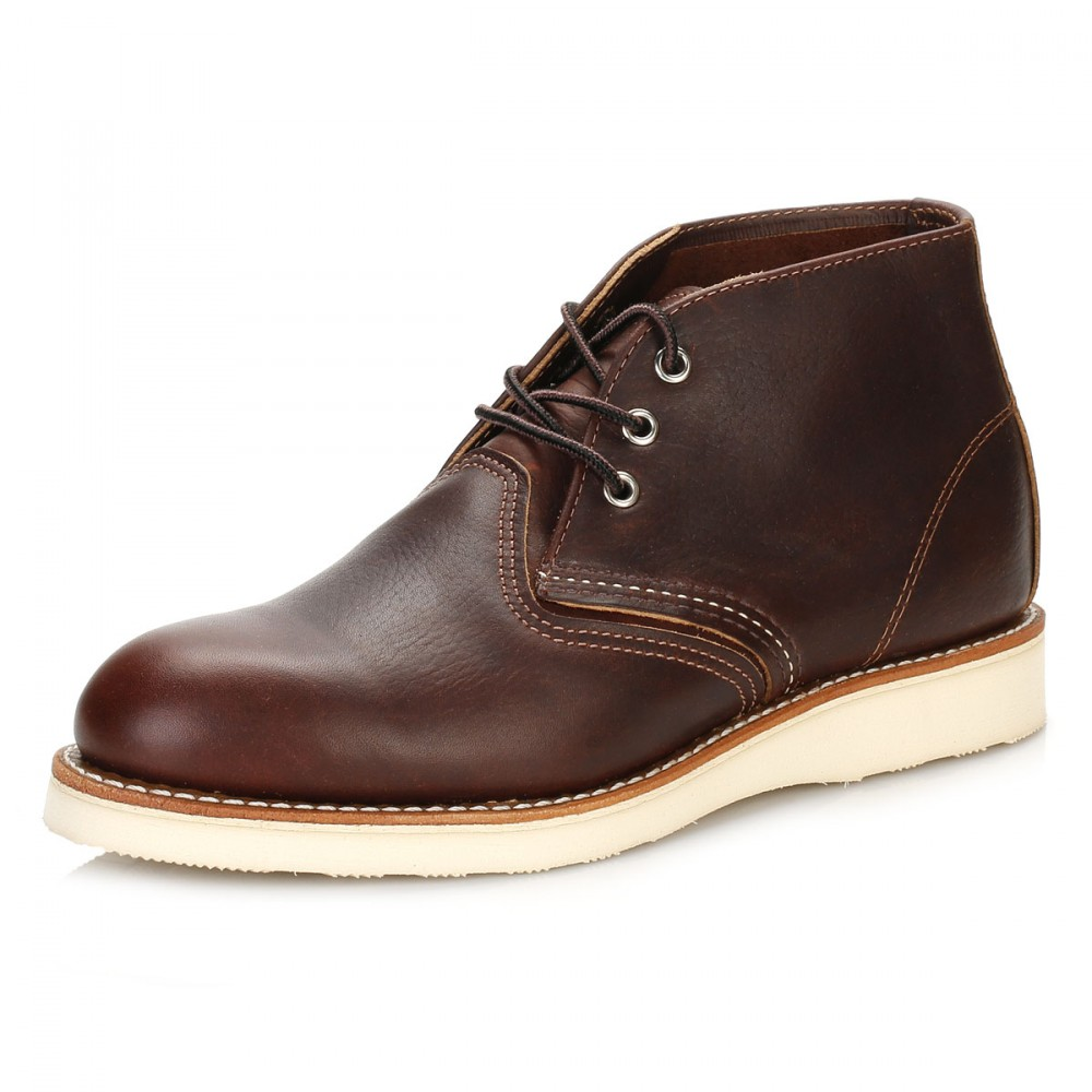 wing shoes mens ankle boots briar slick brown