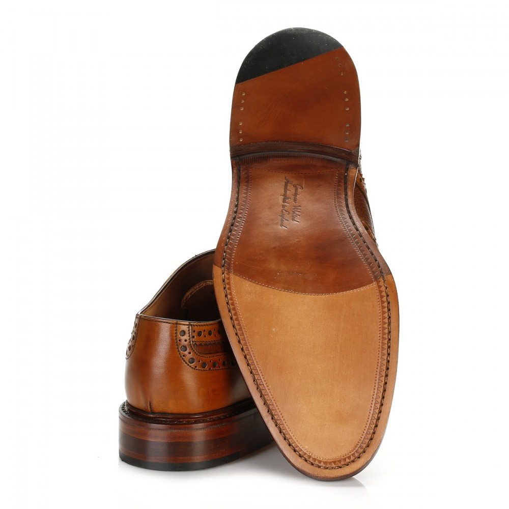 Mens Tan Wingtip Shoes