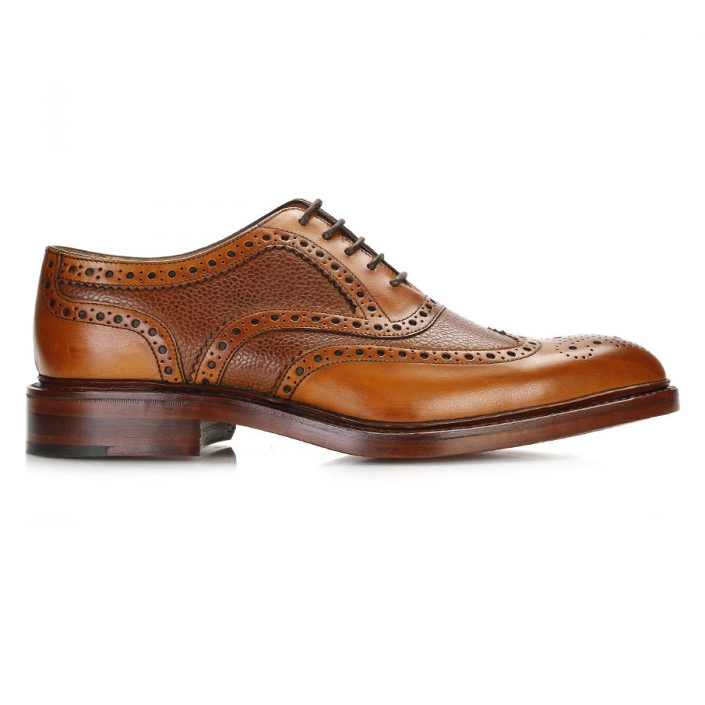 Mens Tan Wingtip Dress Shoes