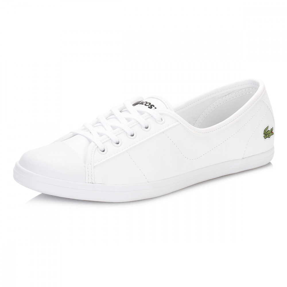 Lacoste Womens Trainers Ziane BL 1 SPW Leather Lace Up Casual Flat Shoes | EBay