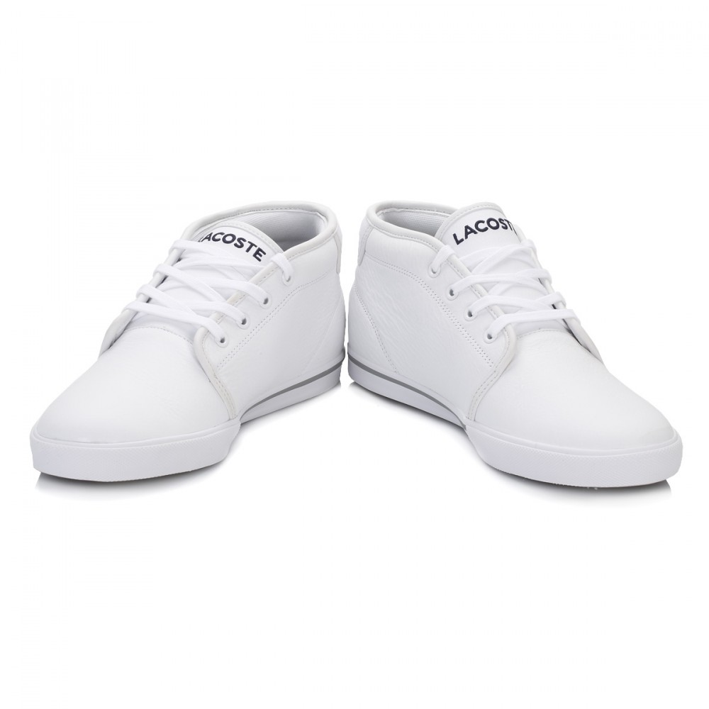 60d1df290fb Lacoste Para hombre Zapatillas Ampthill Negro Blanco Zapatos ...