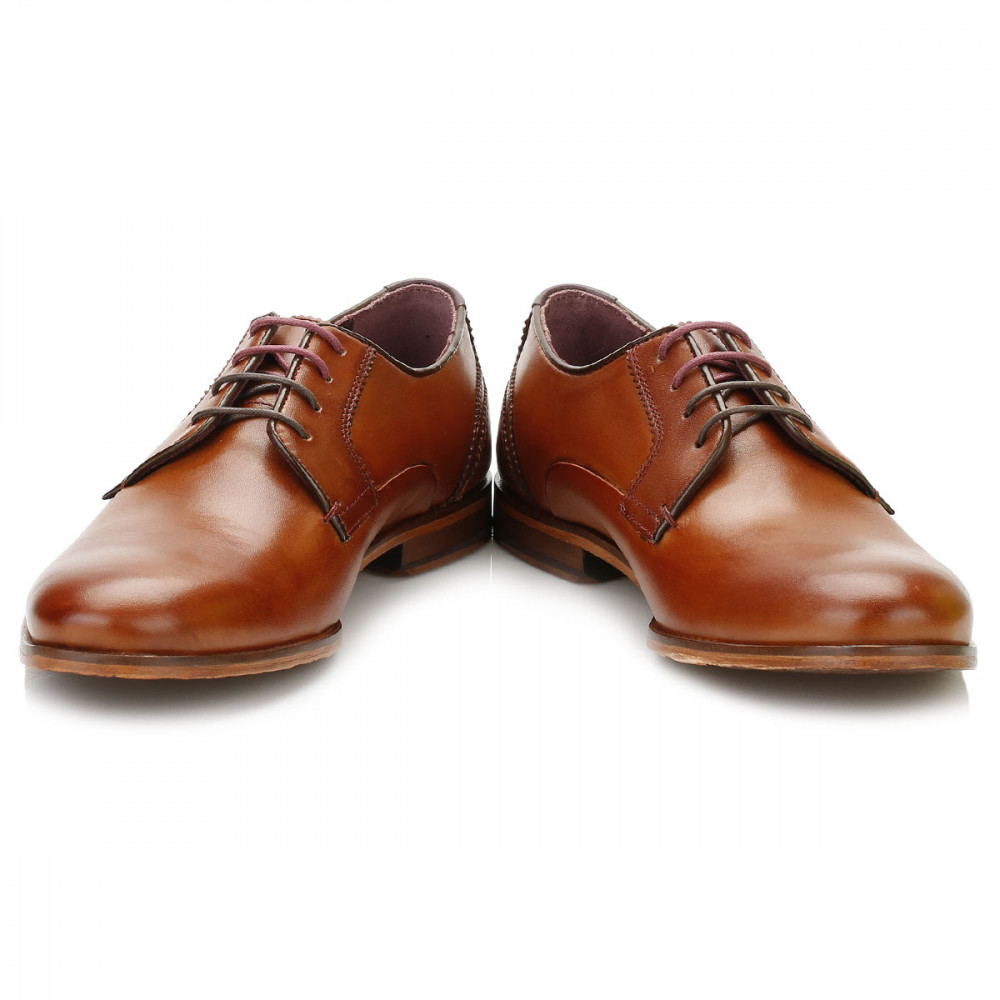 Iront Leather Derby Shoes Brown