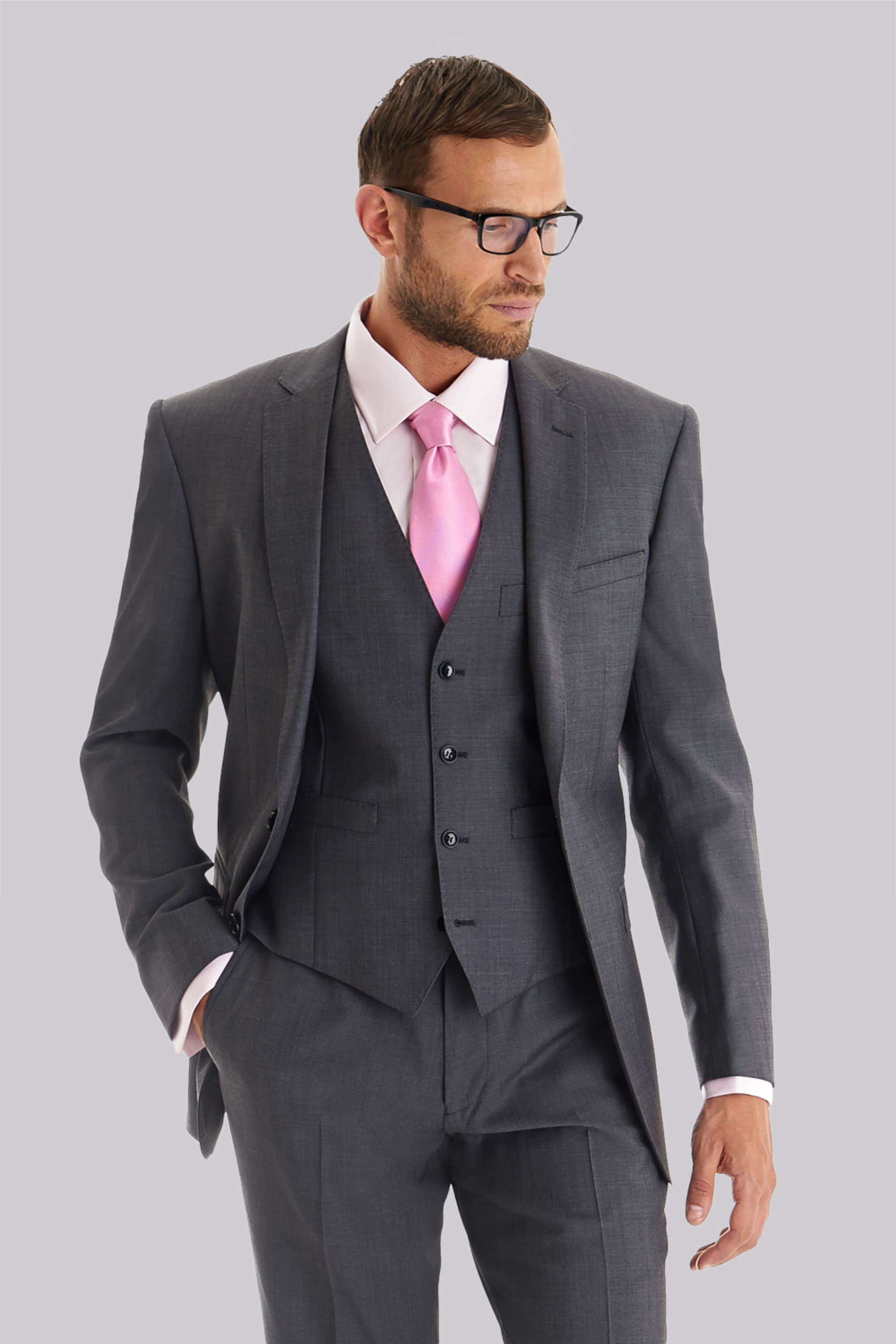 Blazer Men Suit Jacket Only Tailored Fit Grey Notch Lapel Formal ...