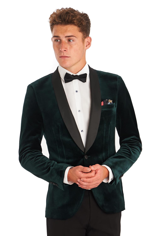 Moss London Mens Suit Jacket Slim Fit Green Shawl Velvet Dinner ...