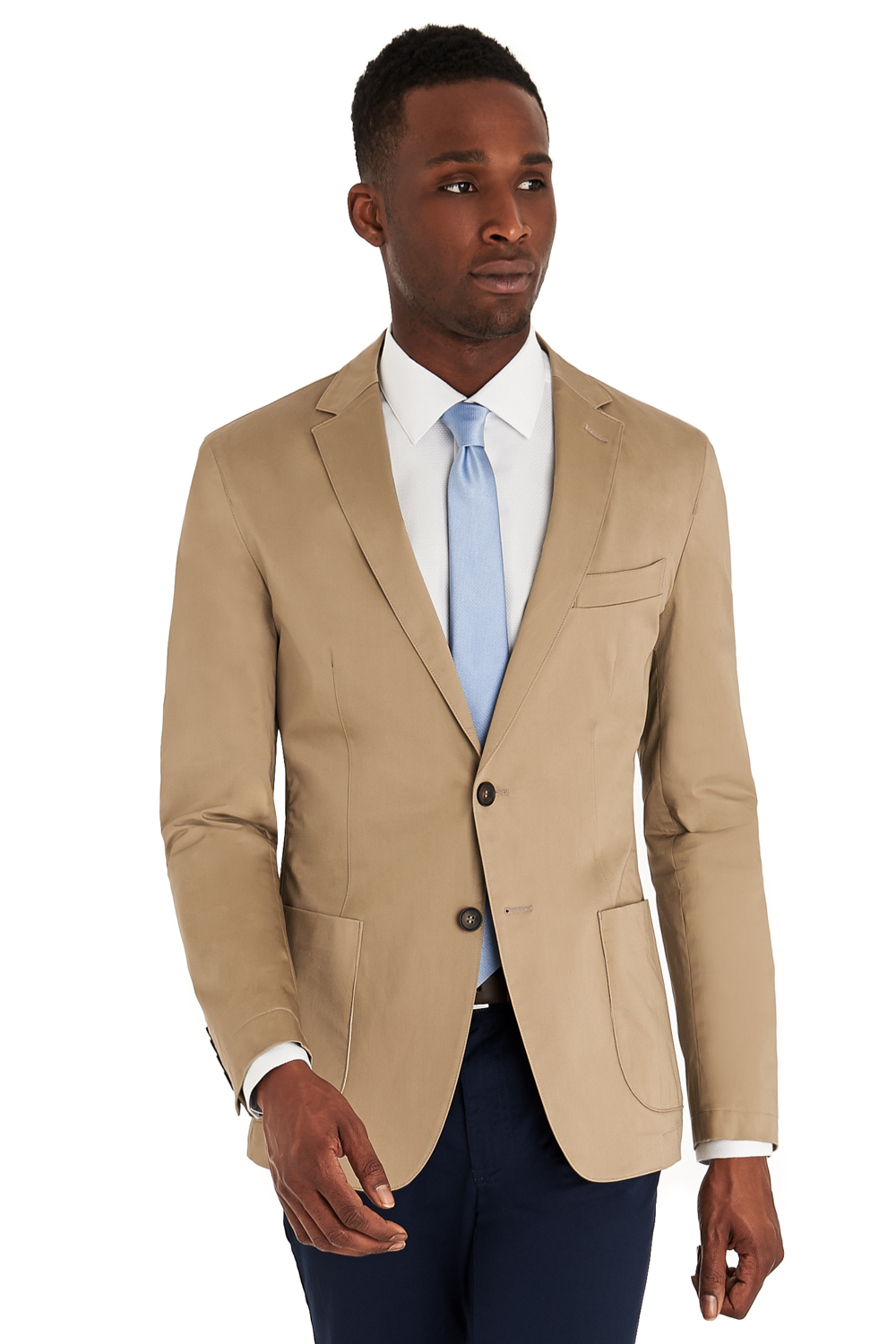 DKNY Slim Mens Fit Stone Cotton Suit Jacket Only Beige Two Button ...
