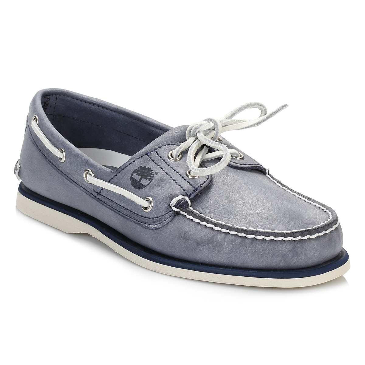 Men's Blue Lace Up Classic Boat Shoes