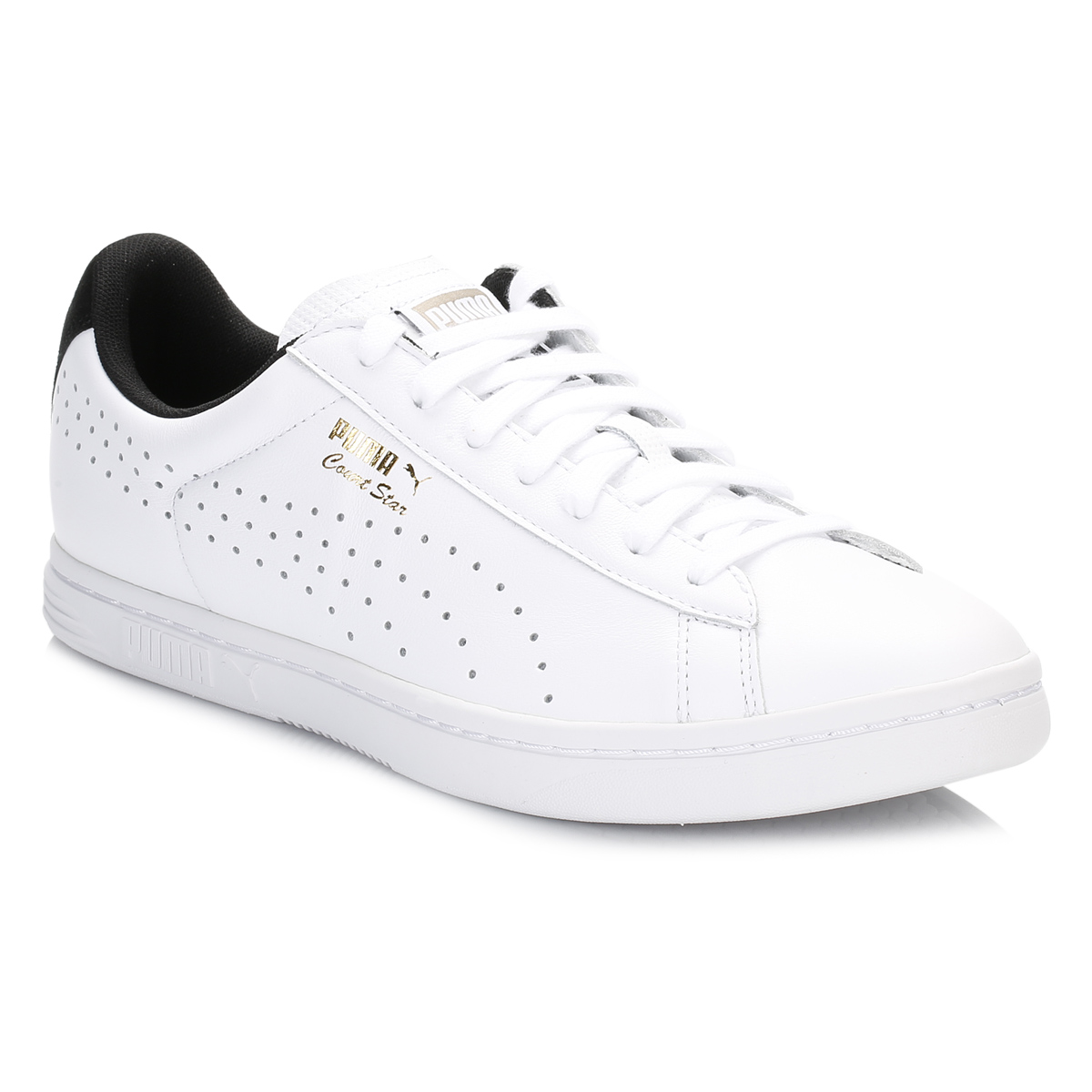 mens white court trainers leather casual sport