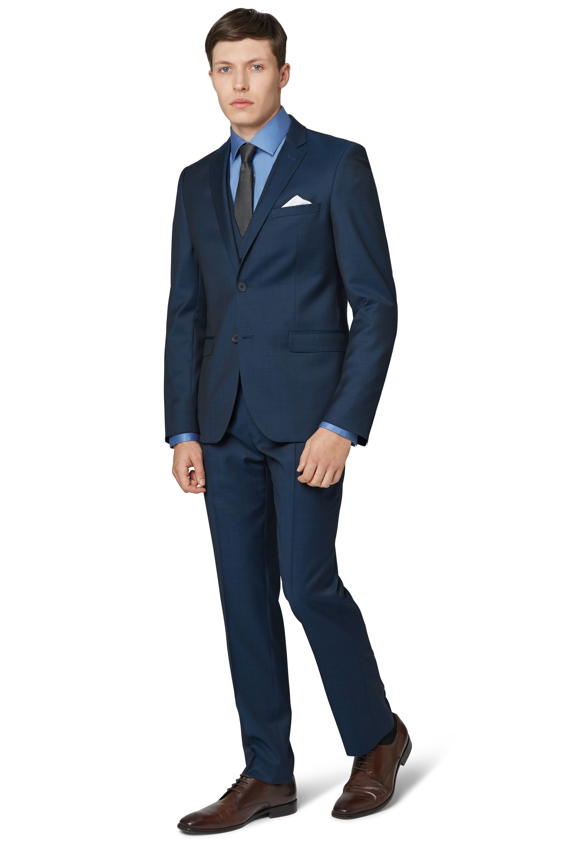 dkny mens teal blue suit jacket slim fit twill wool two button formal blazer ebay. Black Bedroom Furniture Sets. Home Design Ideas