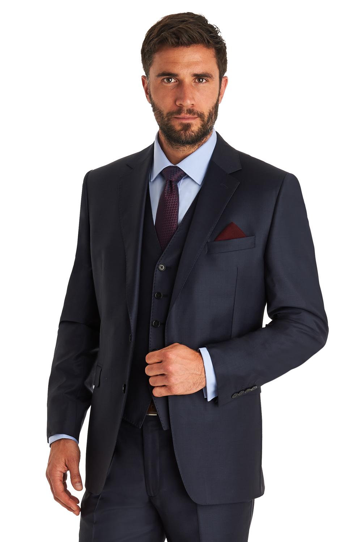 Ermenegildo Zegna Cloth Men Dark Blue Suit Jacket Regular