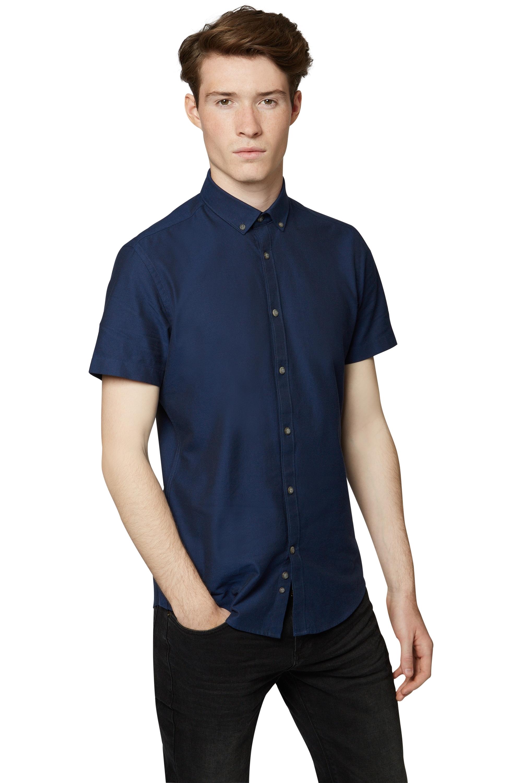 Moss london mens slim fit shirt short sleeve patterned for Mens slim fit short sleeve shirts