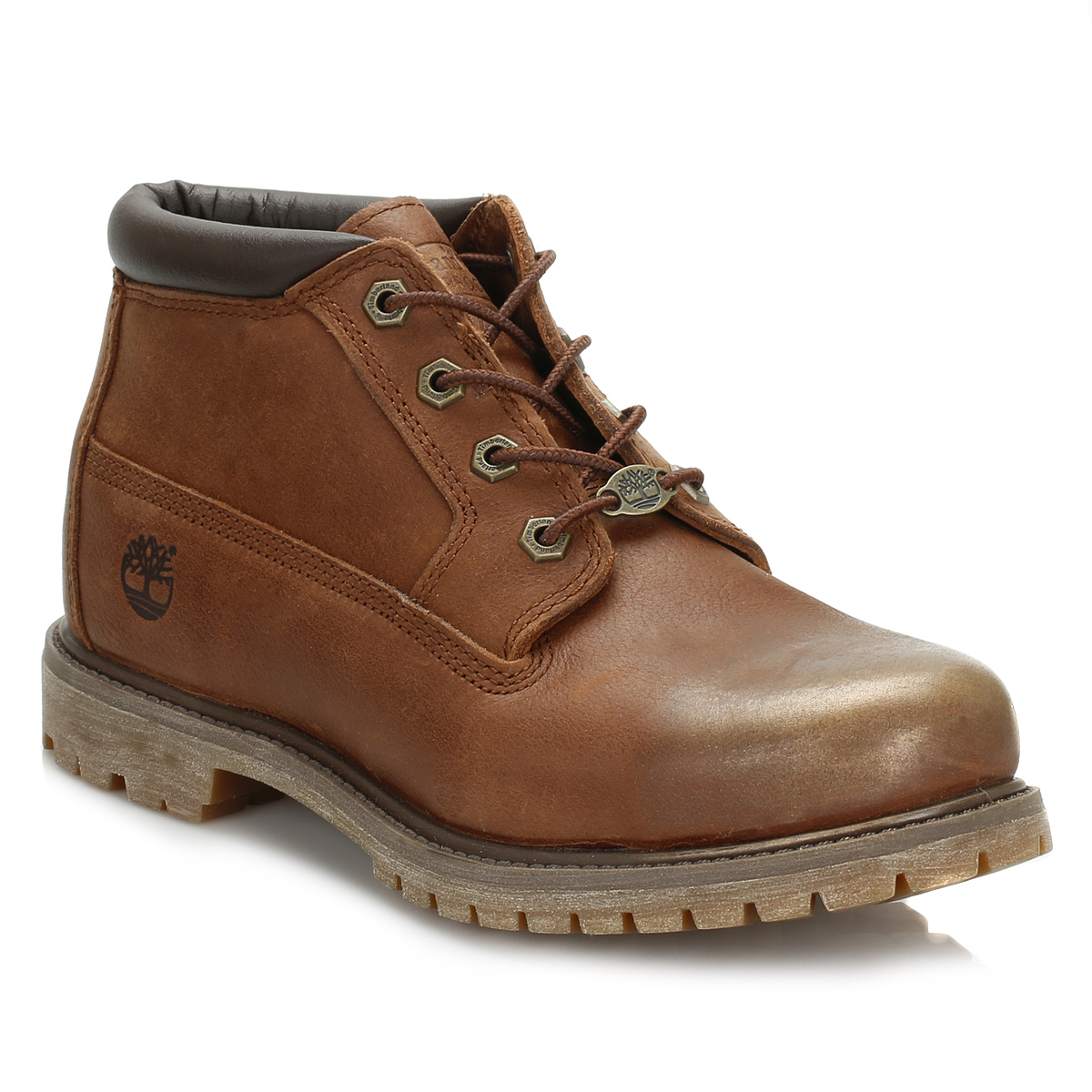 timberland womens brown leather chukka boots casual