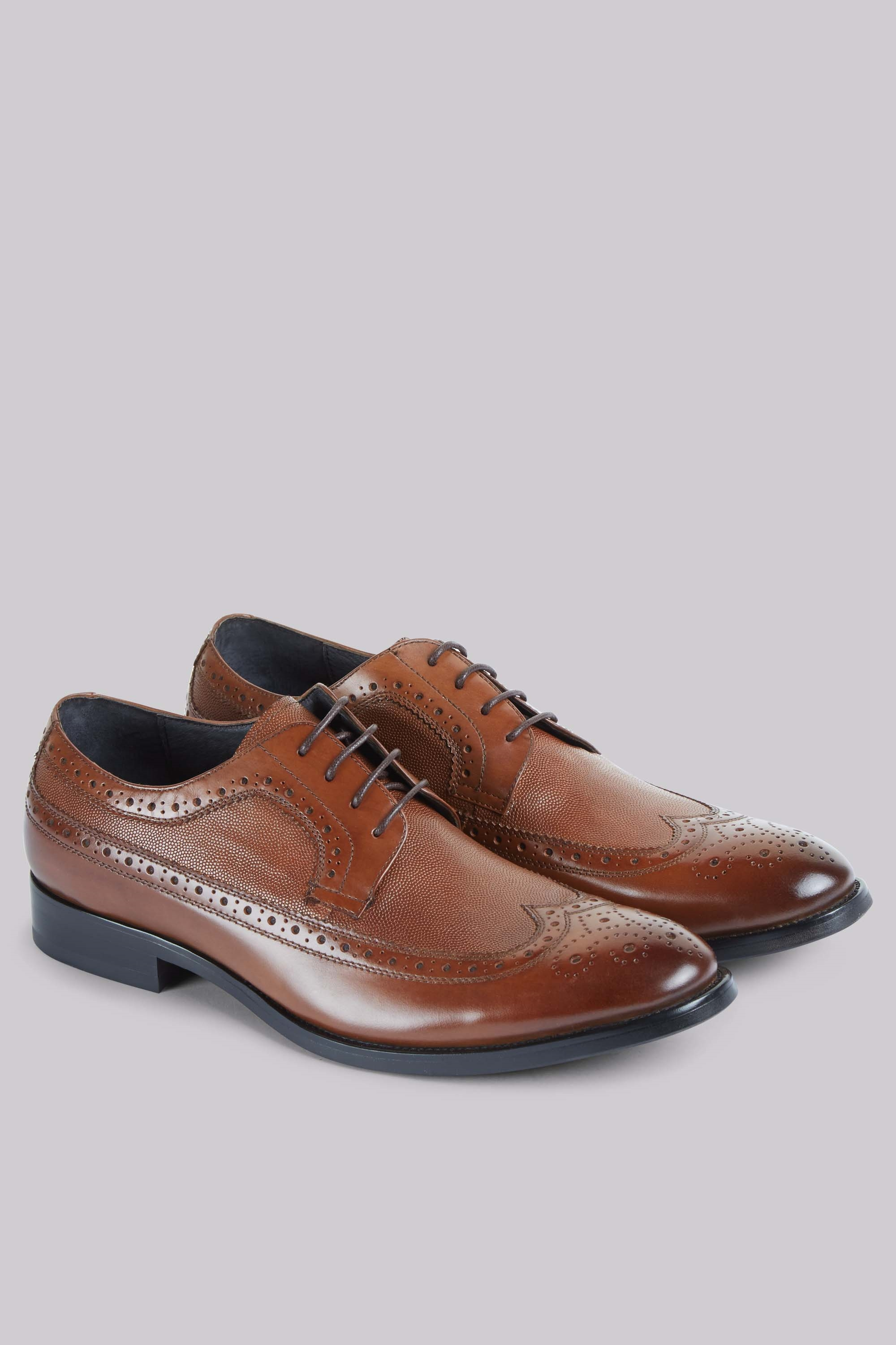 white mens brown oxford shoes textured leather