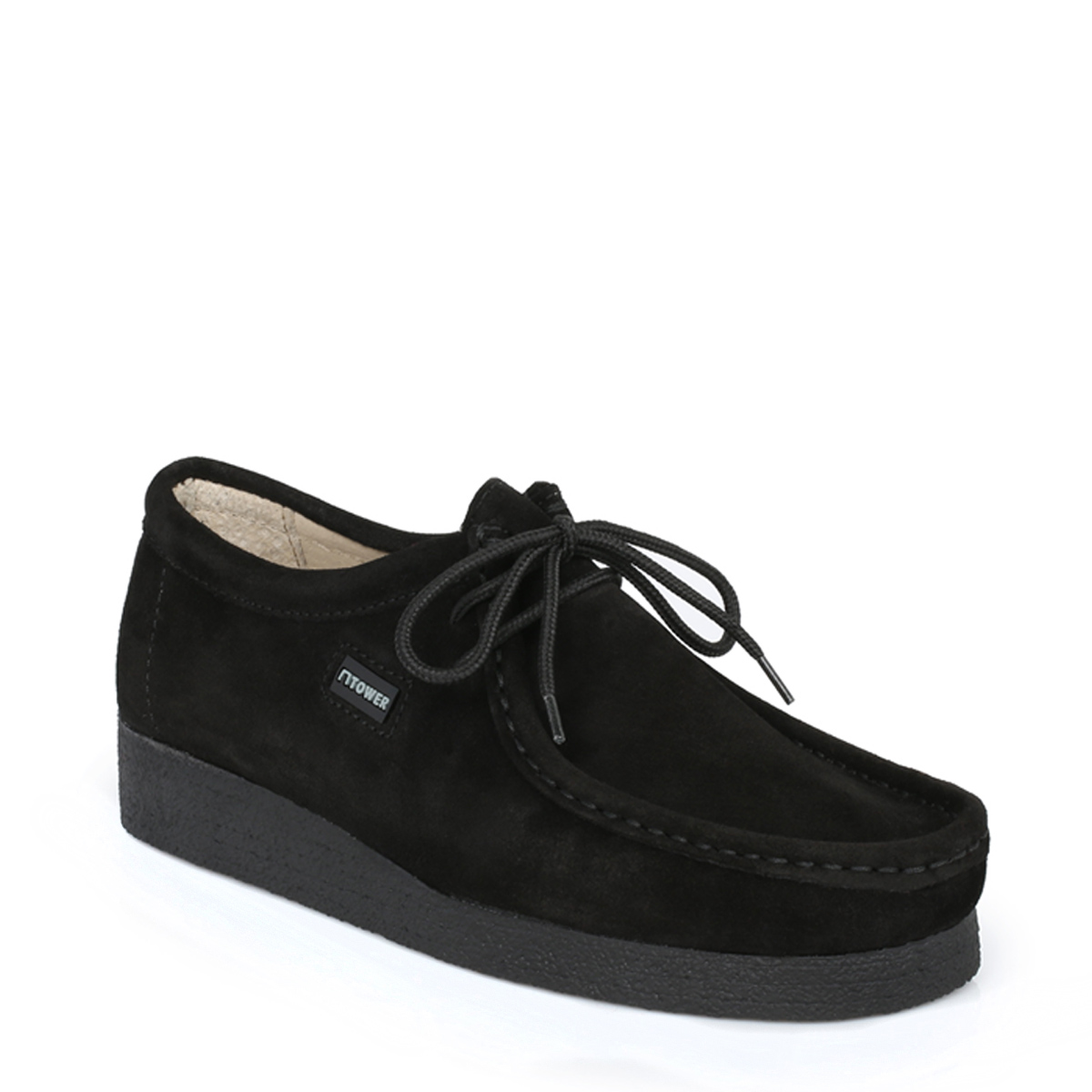 Tower Footwear Negro Wallabee Suede Zapatos-UK 8 BsCeJUb