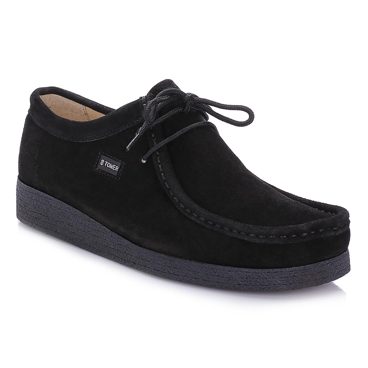 Tower Footwear Negro Wallabee Suede Zapatos-UK 5 oHIdFov