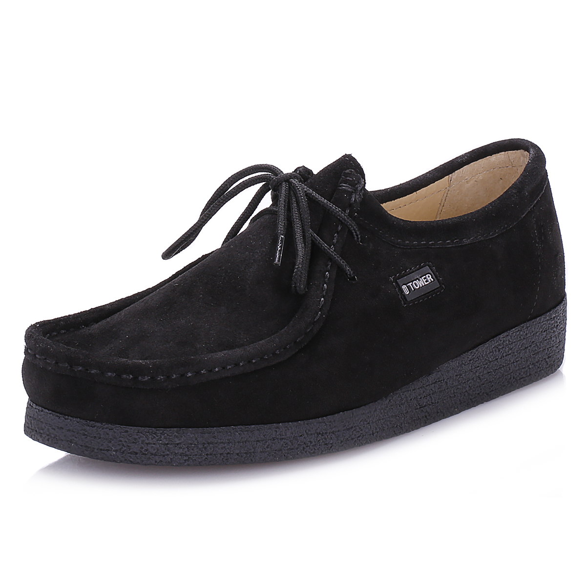 tower mens shoes black lace up casual wallabee