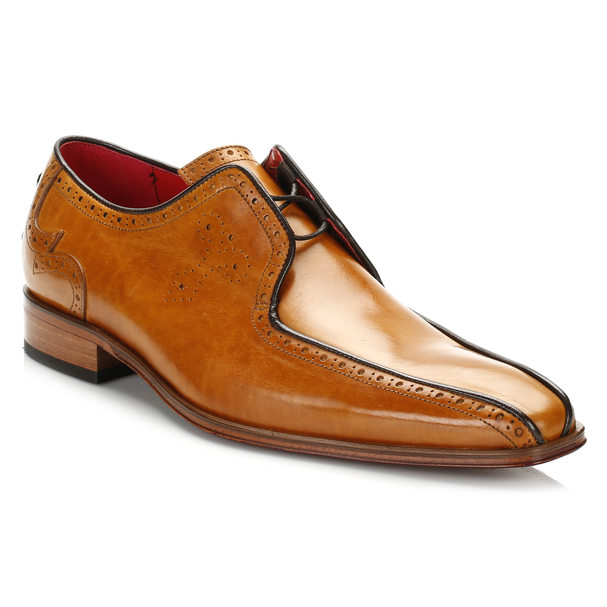 Dark Brown Leather Brogue Shoes