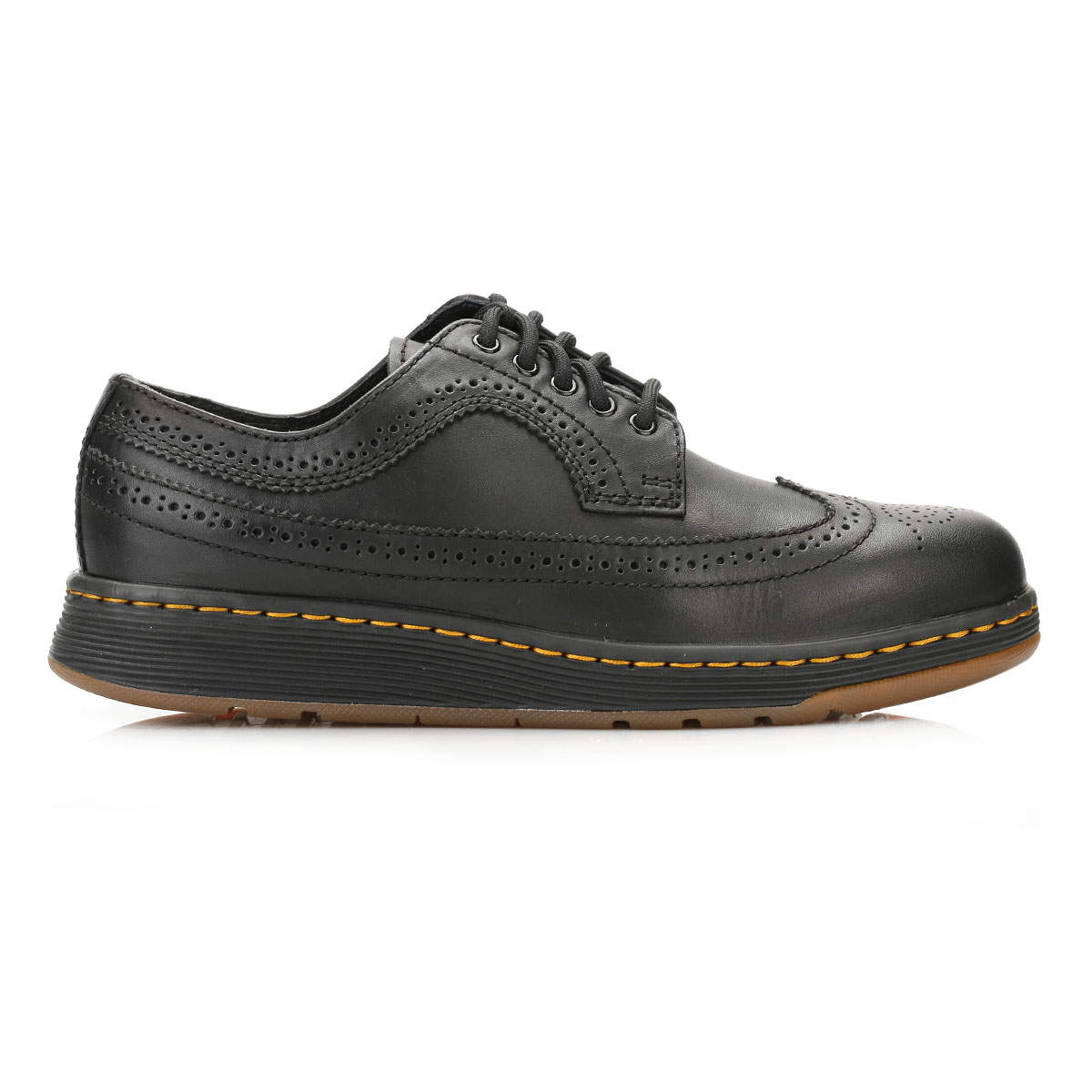Black Leather Wingtip Shoes