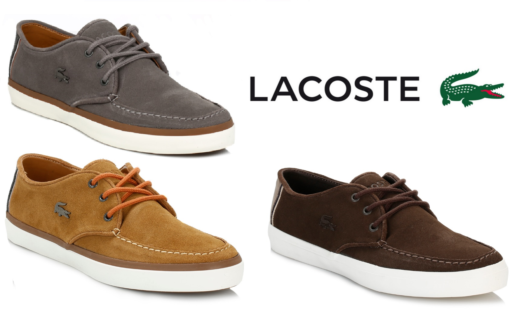 Lacoste Mens Flat Shoes Sevrin Suede Lace Up Casual Trainers - Various Colours | EBay