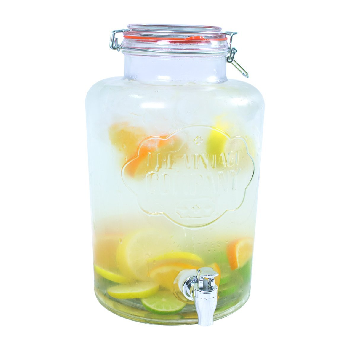 7 6l Glass Mason Jar With Tap Clip Top Lid Party Drinks