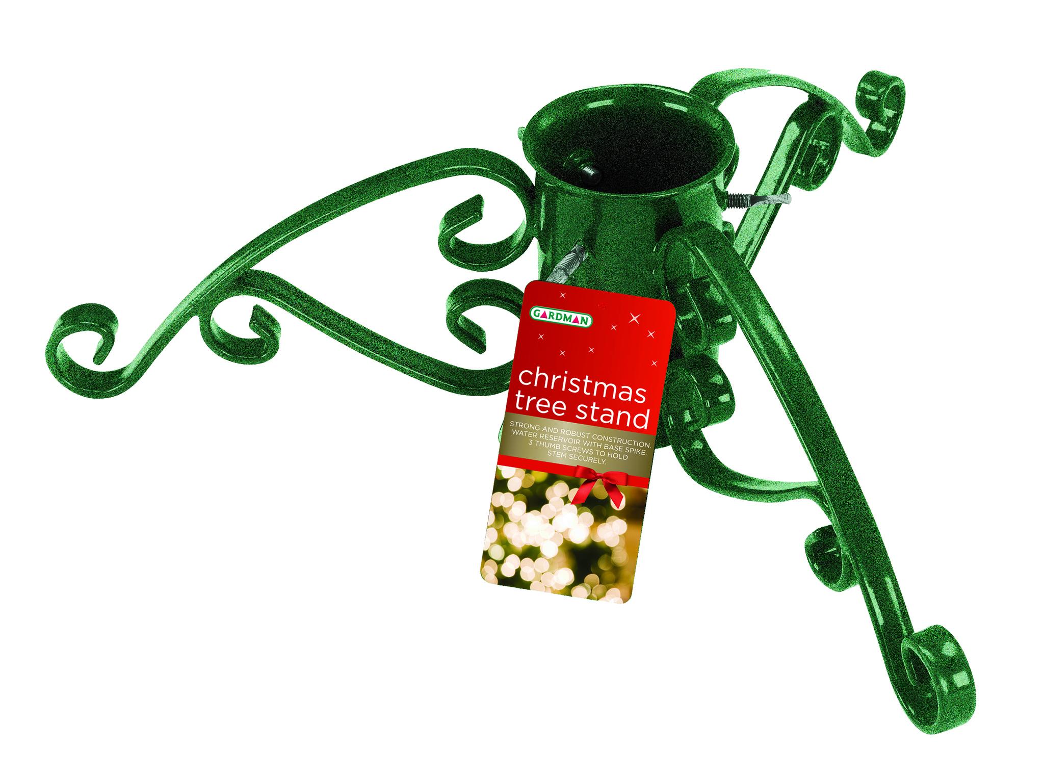 Gardman quot christmas tree stand green sparkle xmas holder