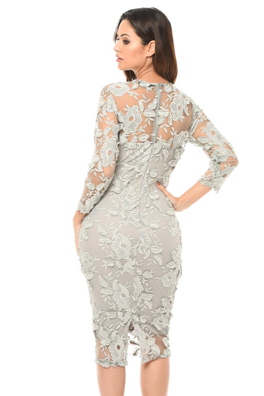 Crochet Lace Midi Dress   Lace bodycon midi dress, Dresses
