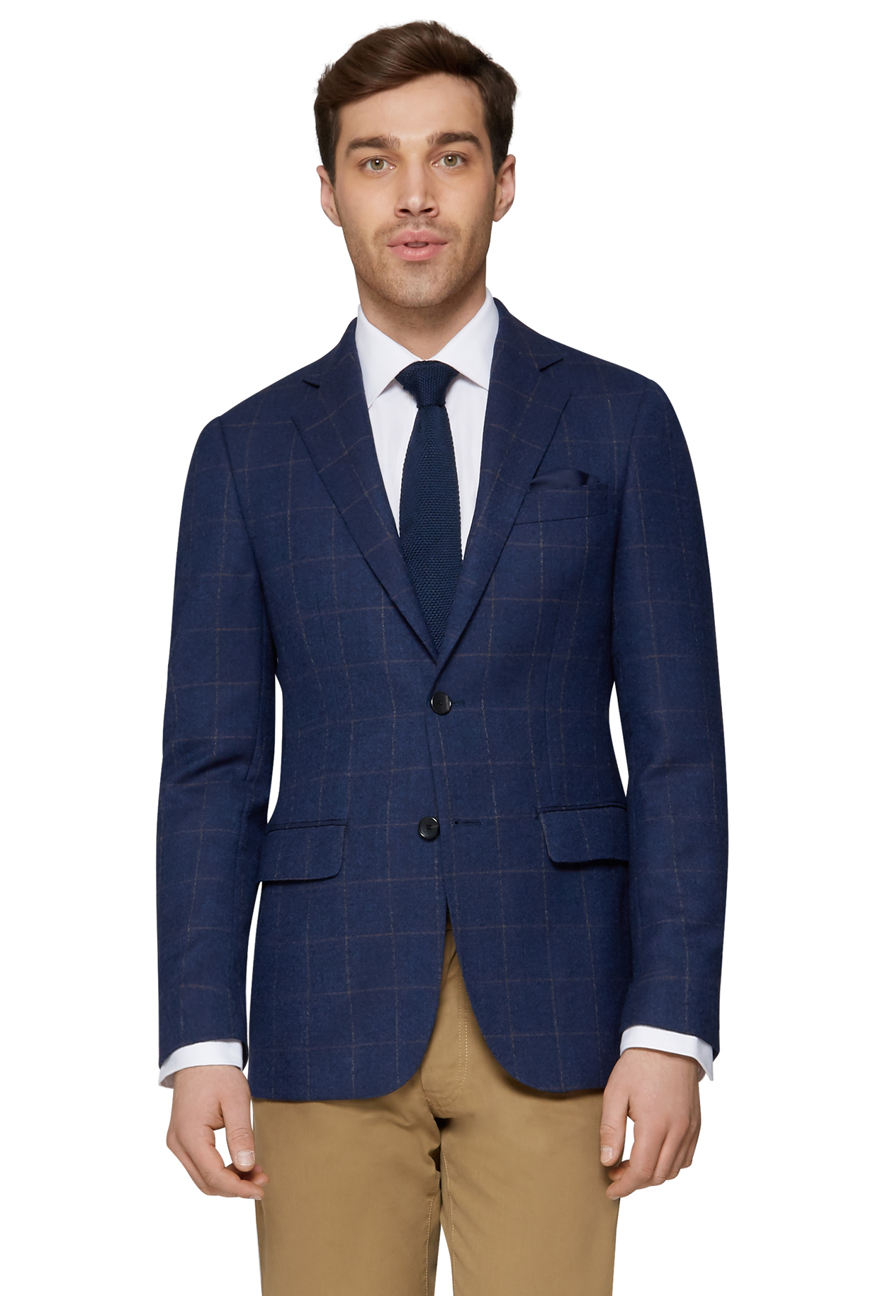 mens brown check suit suit la