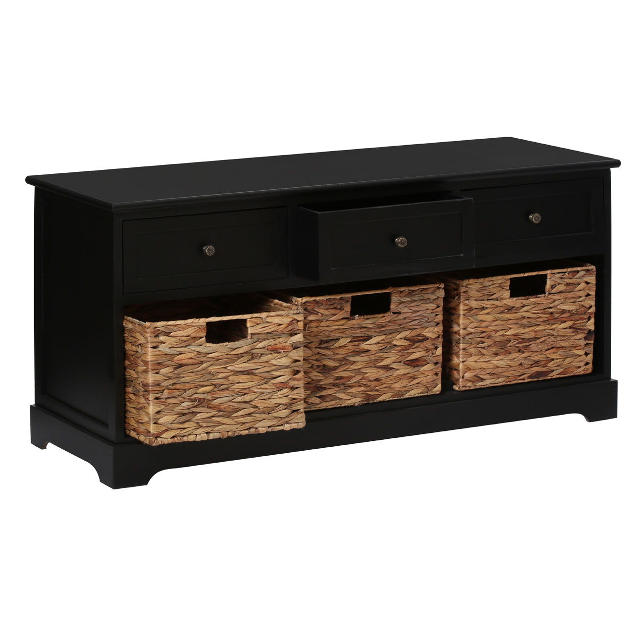 Premier housewares vermont bench drawers baskets