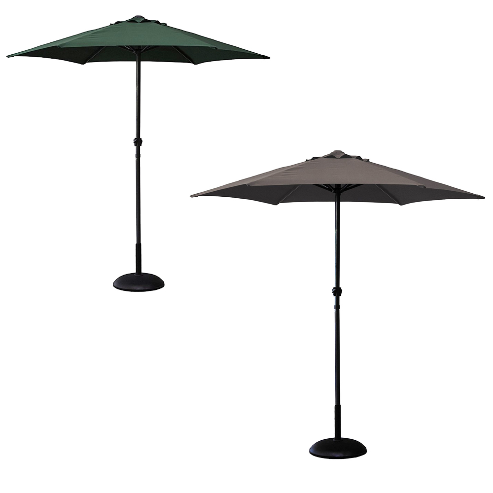 gardman garden parasol outdoor patio umbrella aluminium. Black Bedroom Furniture Sets. Home Design Ideas