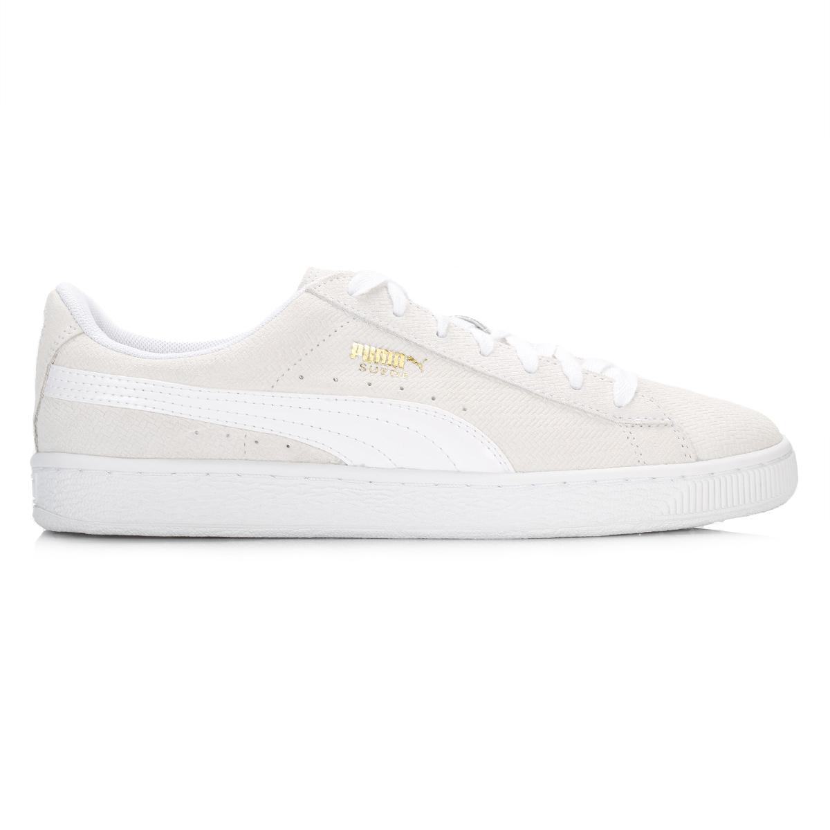 Puma-Womens-Cream-White-Suede-Trainers-Classic-Sport-