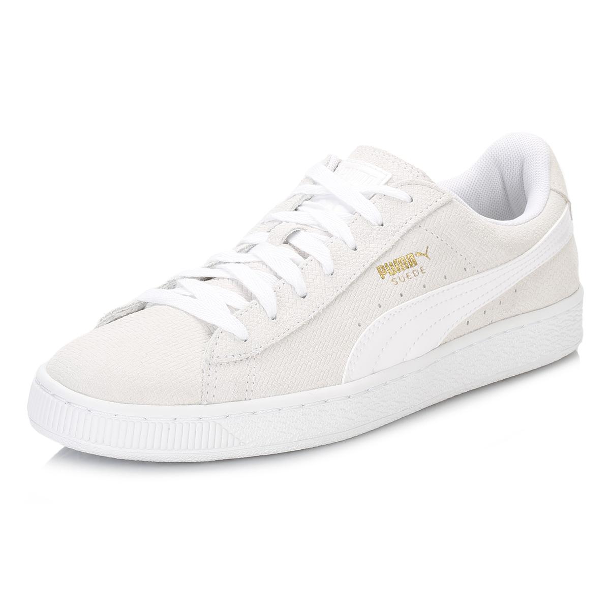 Puma-Womens-Cream-White-Suede-Trainers-Classic-Sport- efcbbdaf5