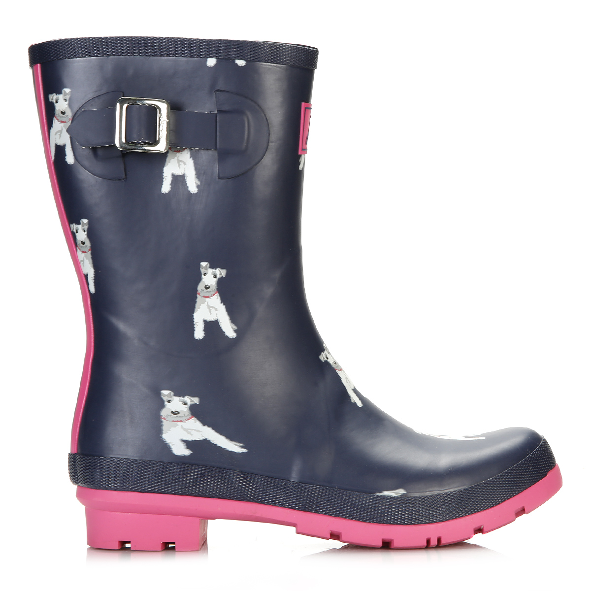 Joules Womens Wellington Boots, Chip Dog Print, Rubber ...