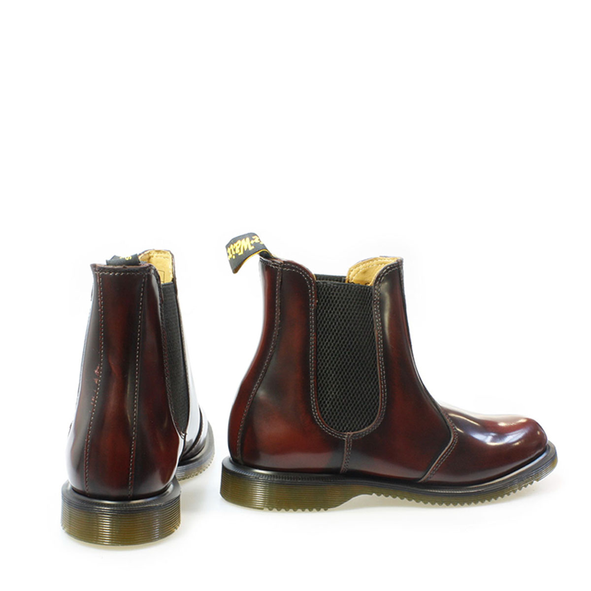 dr martens flora womens ankle boots burgundy brown classic leather pull on ebay. Black Bedroom Furniture Sets. Home Design Ideas
