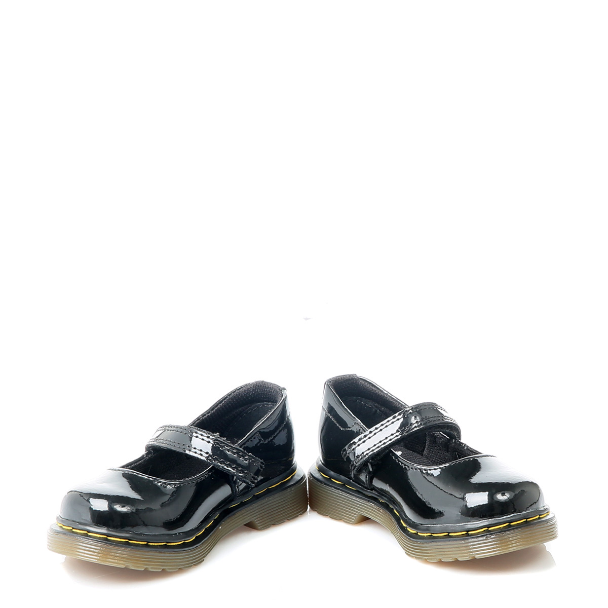 dr martens toddlers tully black patent leather hook