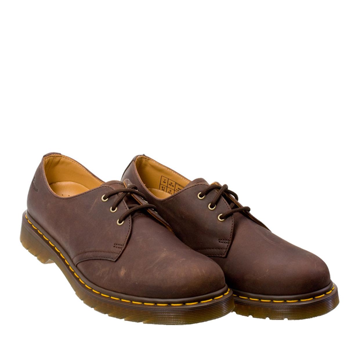 Dr. Martens Unisex 1461 Shoes, Crazy Horse Gaucho Brown ...