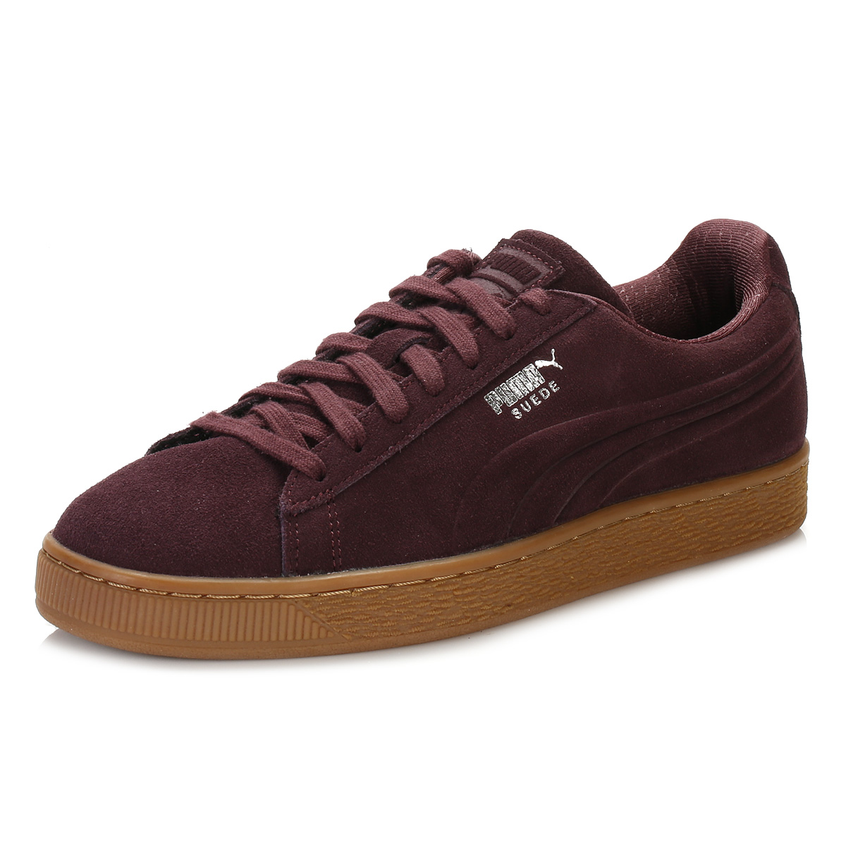 puma mens trainers wine red suede classic debossed lace up sport casual shoes ebay. Black Bedroom Furniture Sets. Home Design Ideas