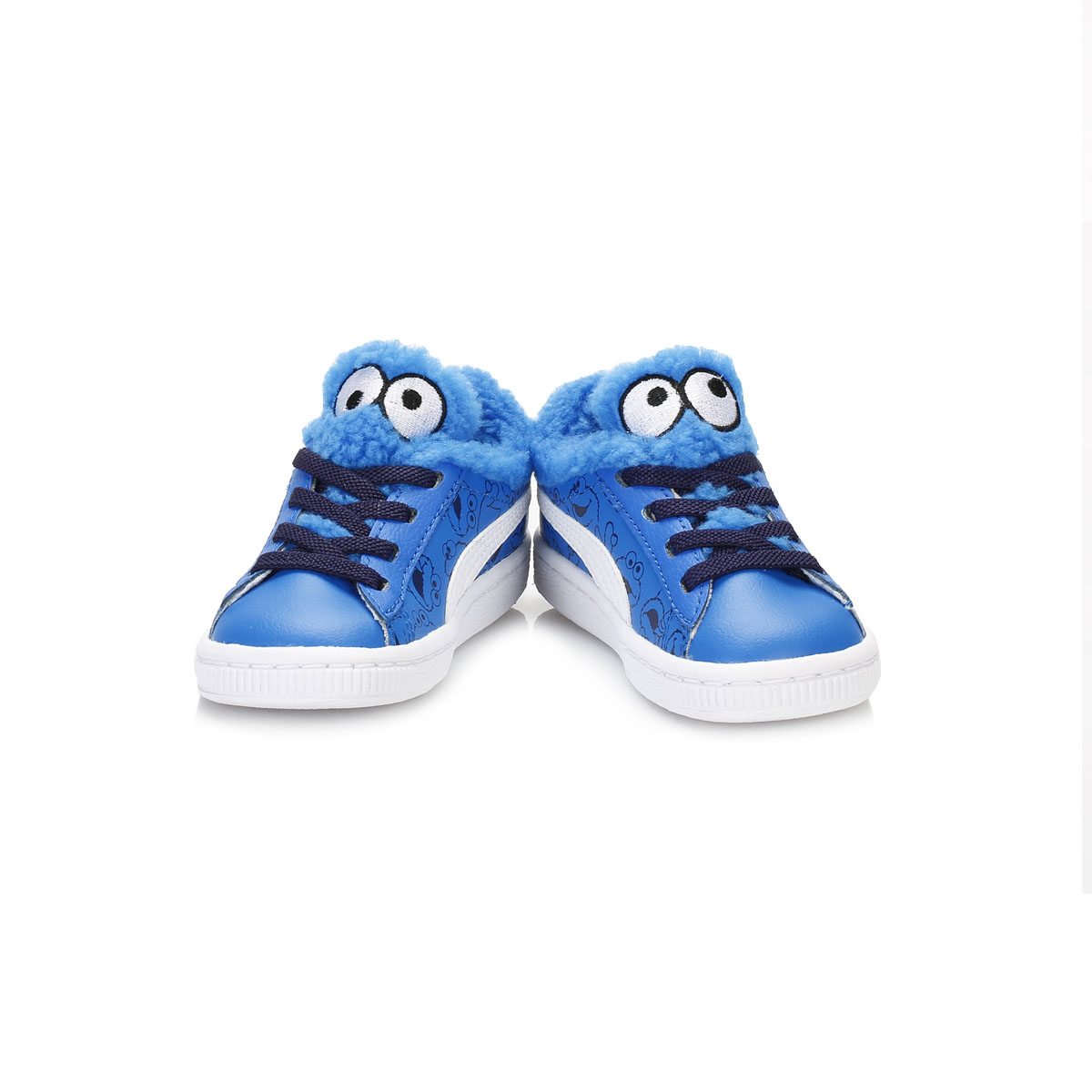 Puma Infant Trainers Blue Cookie Monster Kids Leather