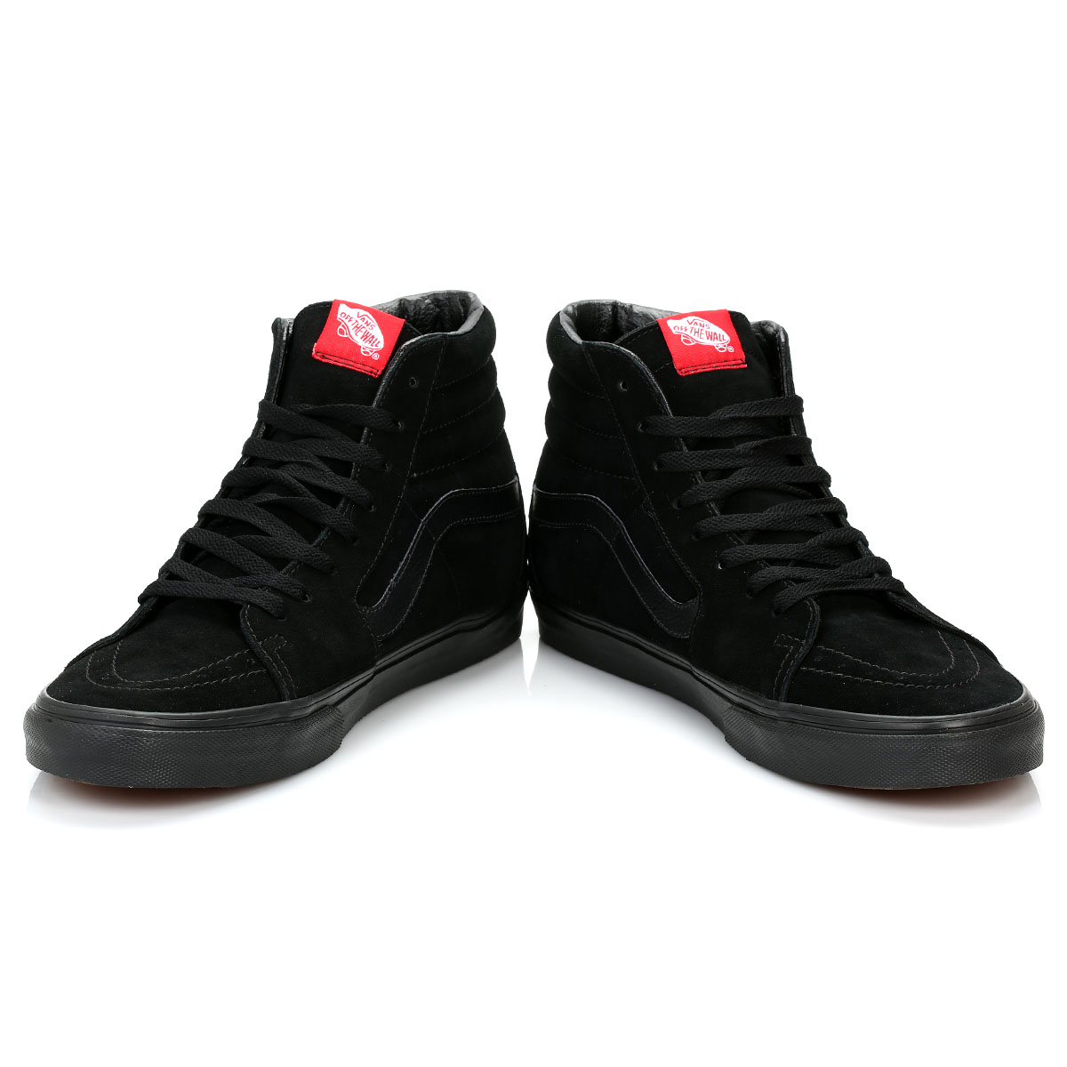 Vans Men High Tops Black SK8 Hi Suede Trainers LaceUp ...